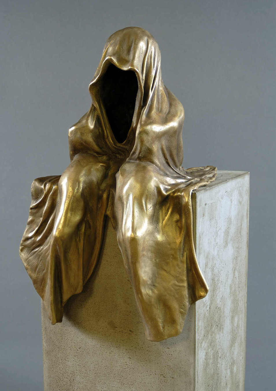 bronze sculpture auction ginhart foundry krismer contemporary art and antiques design show mini guardians of time  time keepers manfred kielnhofer