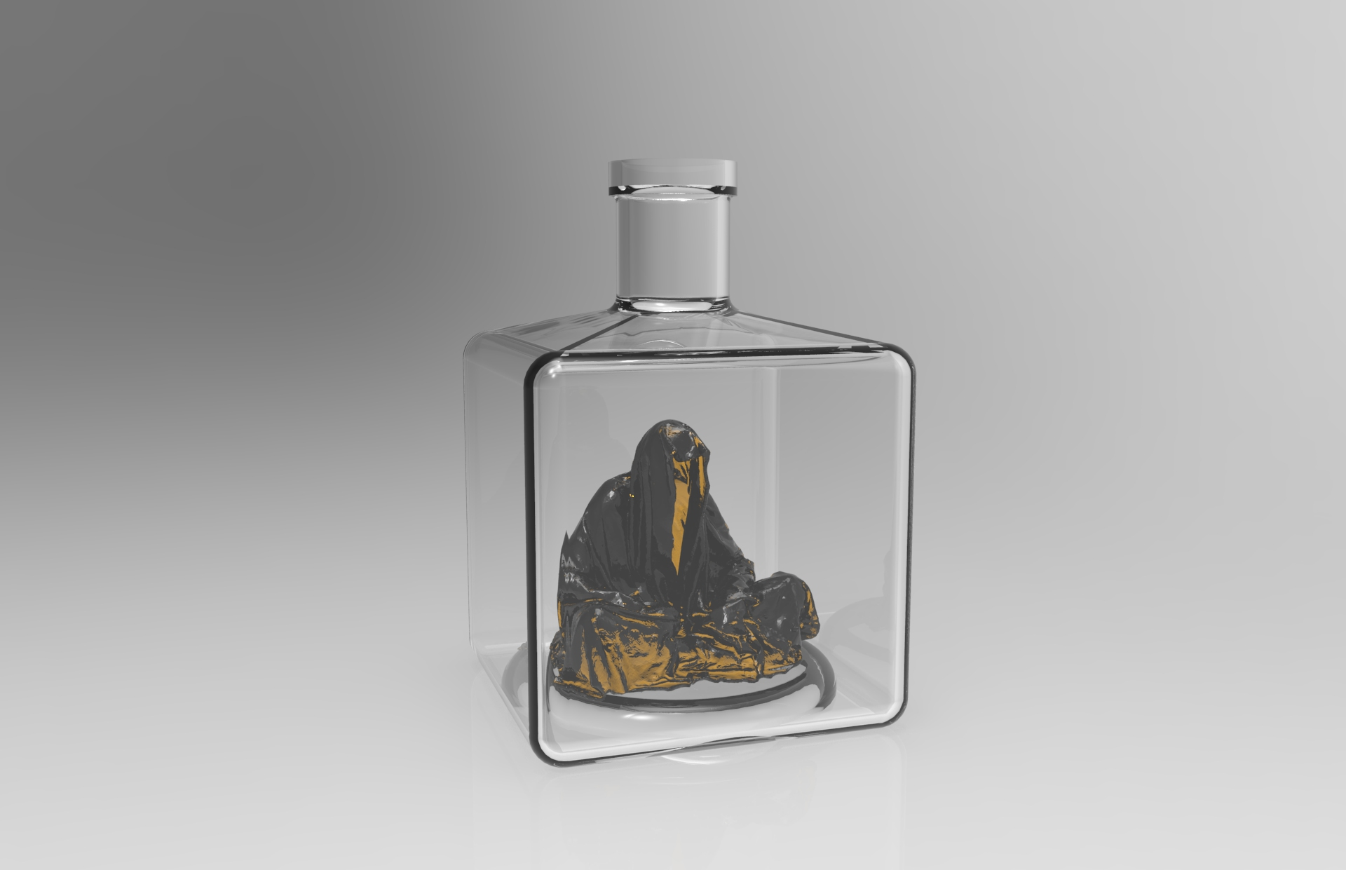 Guardian glass bottle wadka water drink manfred kili kielnhofer art arts design glass 445