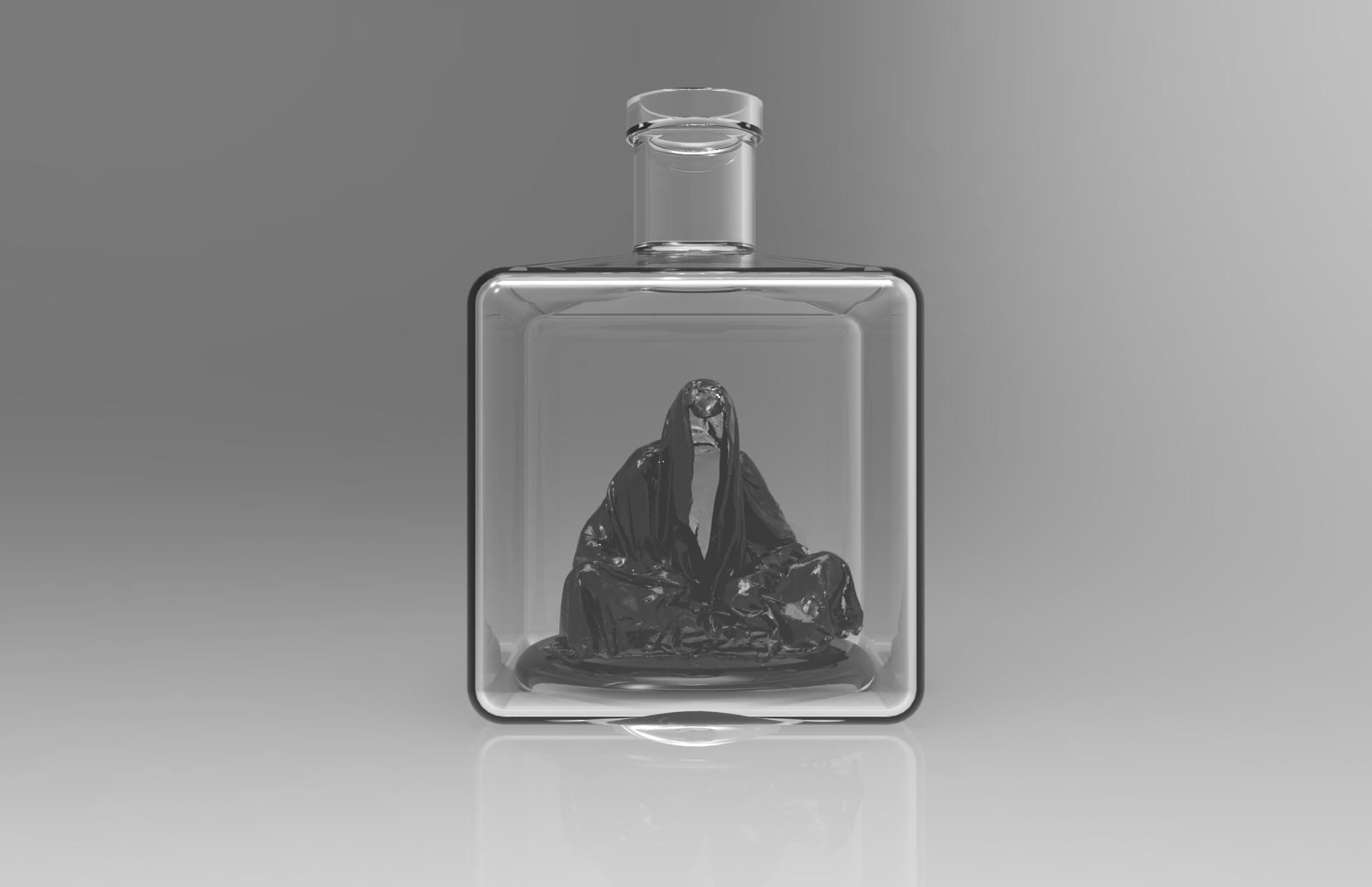 Guardian glass bottle wadka water drink manfred kili kielnhofer art arts design glass 448