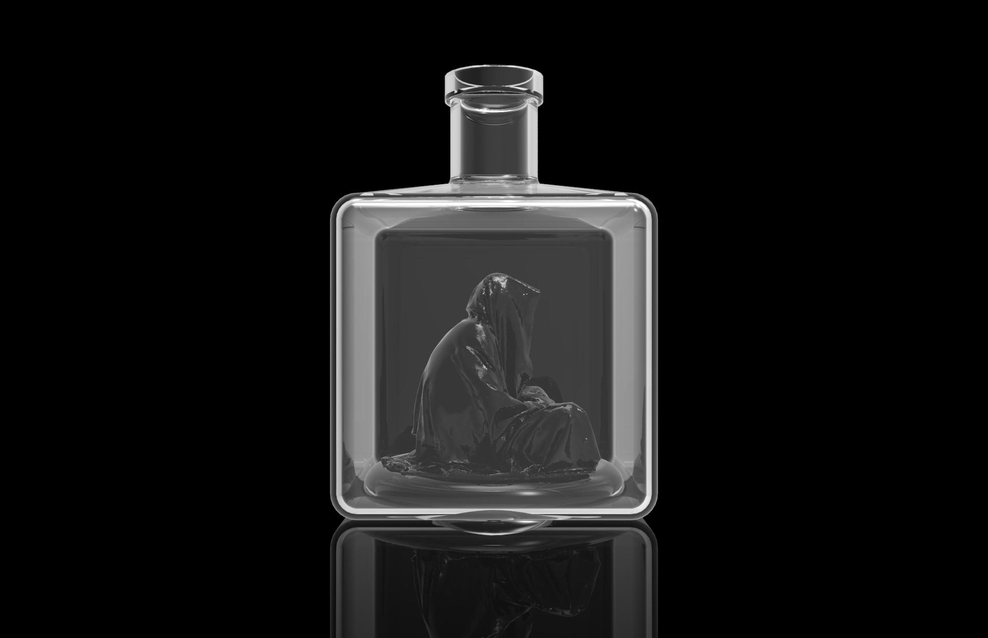 Guardian glass bottle wadka water drink manfred kili kielnhofer art arts design glass  449
