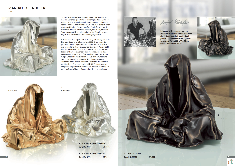 art foundry strassacker guardians of time by manfred kili kielnhofer contemporarary fine art sculpture bronze silver gold statue